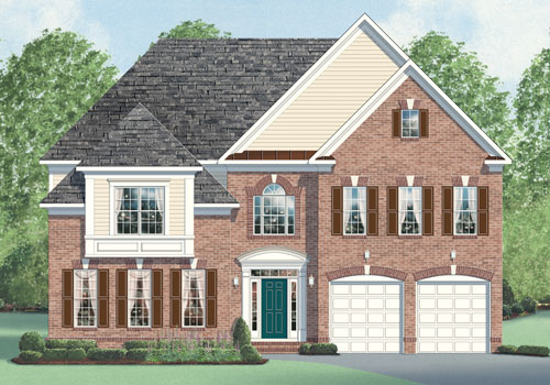 The barrington model new homes in northern virginia for Modern homes northern virginia