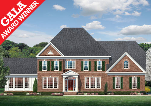 The lancaster model new homes in northern virginia for Modern homes northern virginia